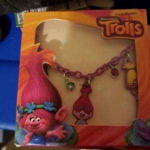 Trolls charm bracelet